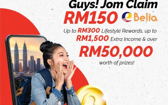 Malaysian Youth to Each Receive up to RM300 in Rewards, Earn up to RM1,500 Income and A Chance to Win Prizes Worth RM50,000 When Redeeming RM150 eBelia Credit with Boost